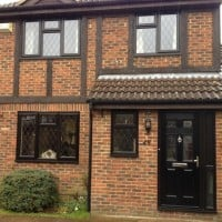 Brown Black uPVC Windows