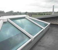 White uPVC lantern rooflight with clear glass and no finial