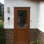 Rosewood uPVC back door