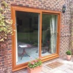 Light Oak uPVC sliding patio door