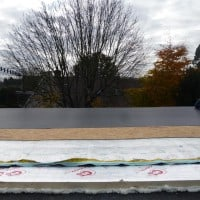 Warm roof construction with Rubberbonds EPDM flat roof membrane