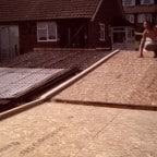 18mm OSB structural deck prepared ready to install Rubberbonds EPDM flat roof membrane