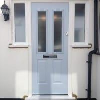 Duck Egg Blue Composite Front Door