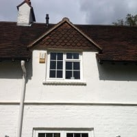 Aluminium windows with 18mm internal Georgian Bars installed directly into brickwork