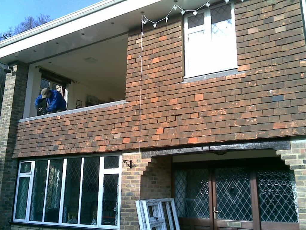 Mid installation of white uPVC windows