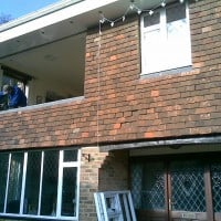 Mid installation of white uPVC windows