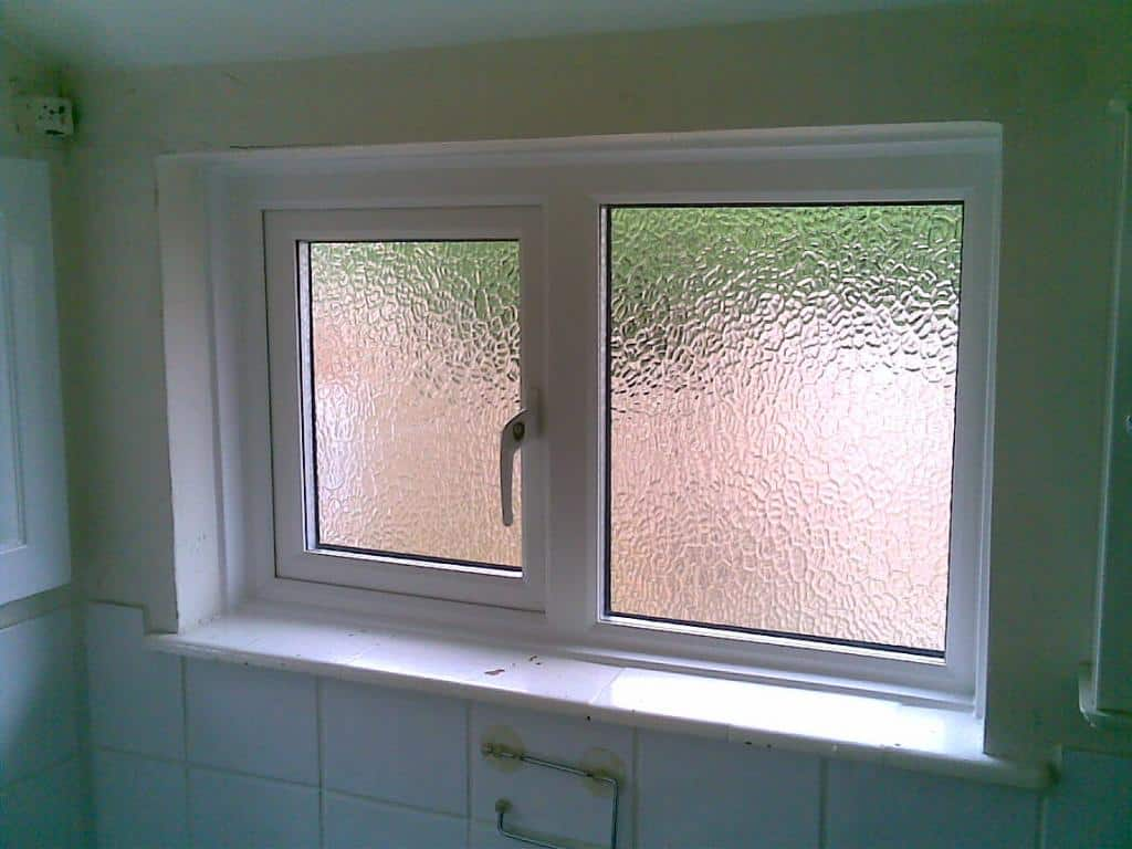 White Upvc Window With Obscure Glass Dorking Glass