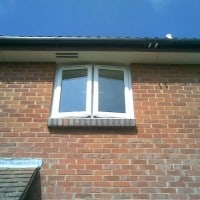 White uPVC window with 4000 trickle vents in each opening casement