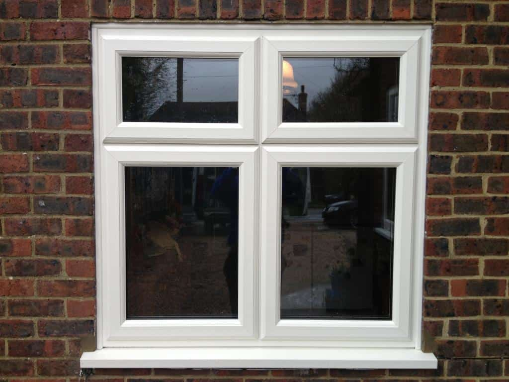 White woodgrain upvc window gallery dorking glass for Glass windows