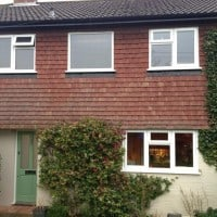 White uPVC windows with fully sculptured framing