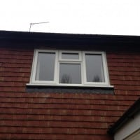 White uPVC window with fully sculptured framing