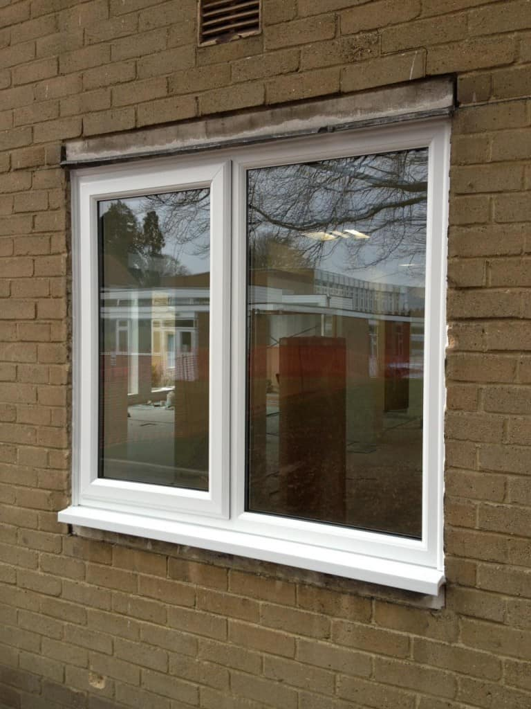 White uPVC Windows With Fully Sculptured Framing For School In Reigate, Surrey.
