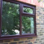 Rosewood uPVC window