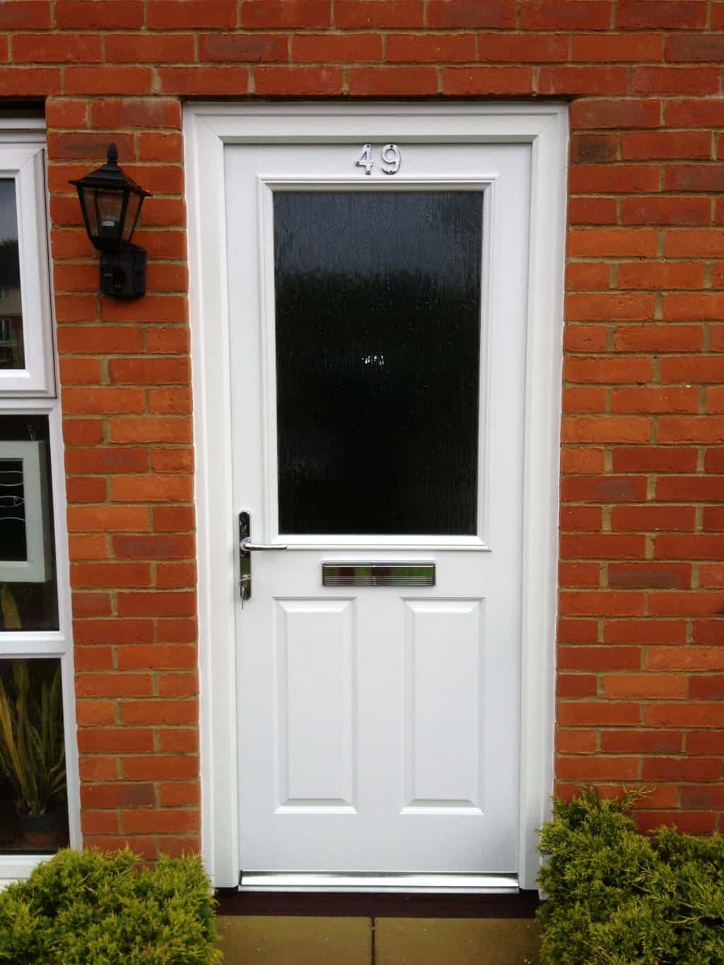 White Composite Front Door 2 Dorking Glass