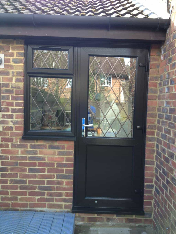 Brown Black Upvc Windows Gallery Dorking Glass