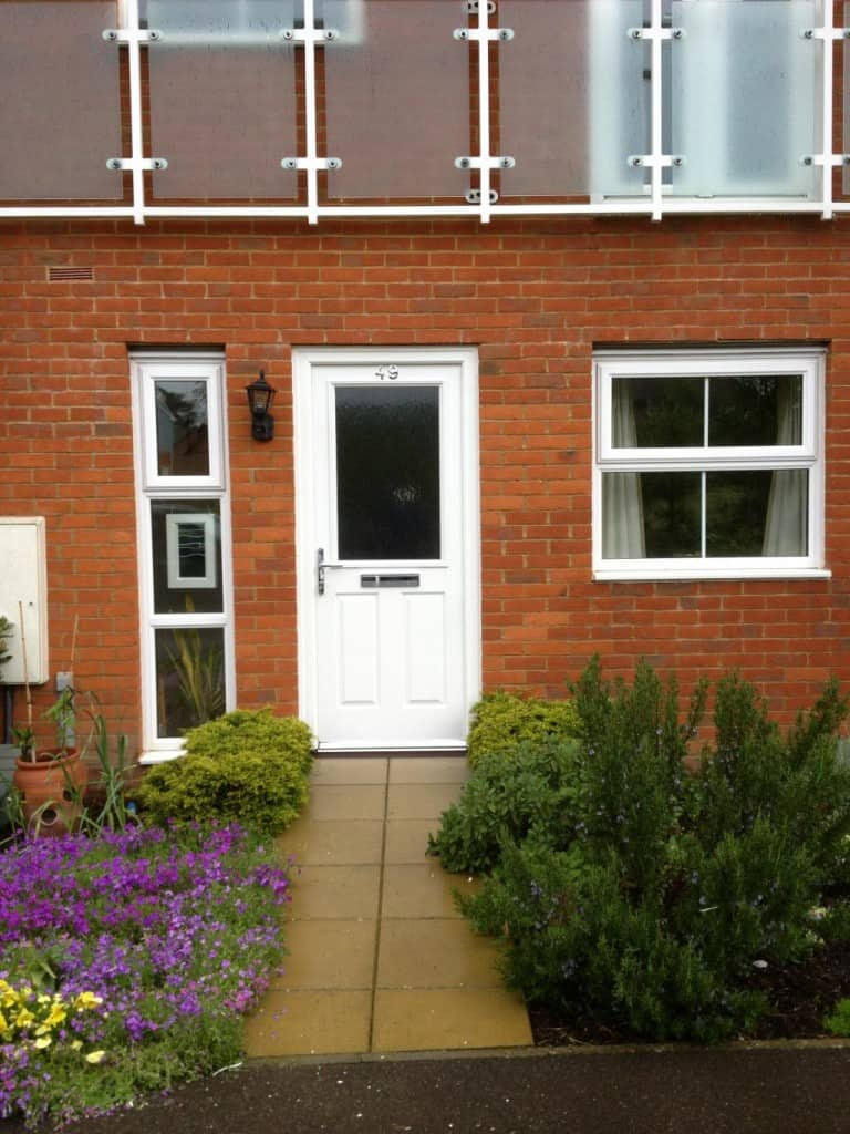 White composite front door Rehill Surrey