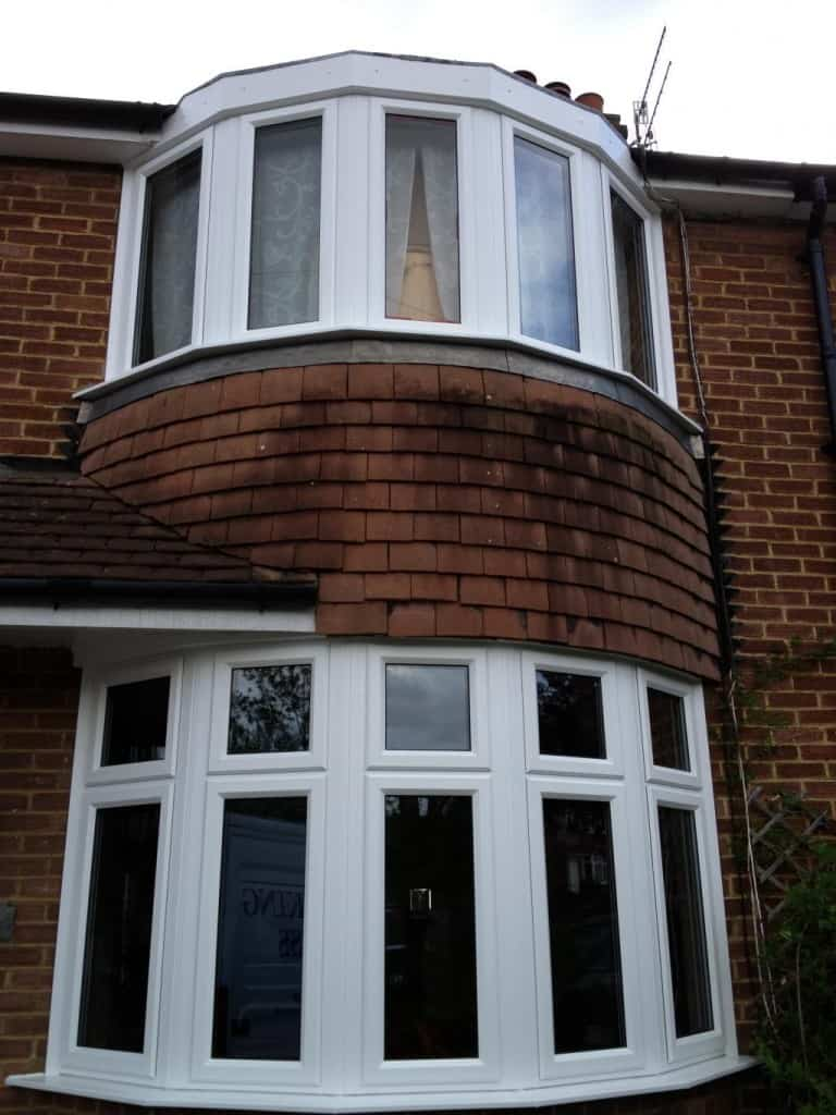 Replacing Old Bay Windows With New White uPVC Windows