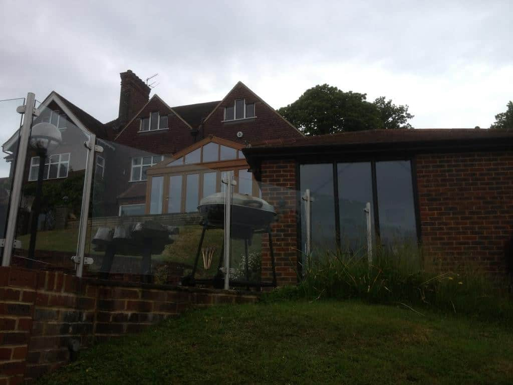 New Black Brown uPVC windows and French Doors Dorking Surrey