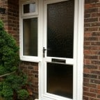 White Liniar uPVC front door