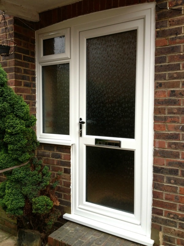 White Liniar uPVC Front Door Upgrade, Surrey
