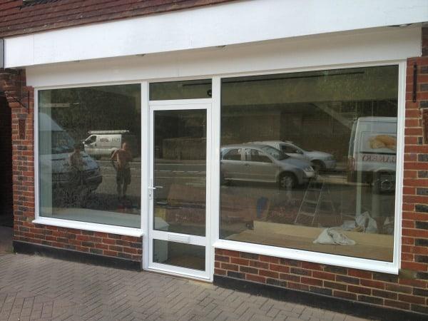 White powder coated aluminium windows and doors
