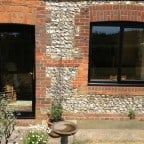 Window and French Doors were black out, white in powder coated aluminium