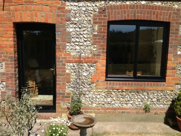 Window and French doors black out, white in power coated aluminium.