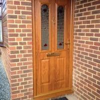 Nottingham style Golden Oak composite door