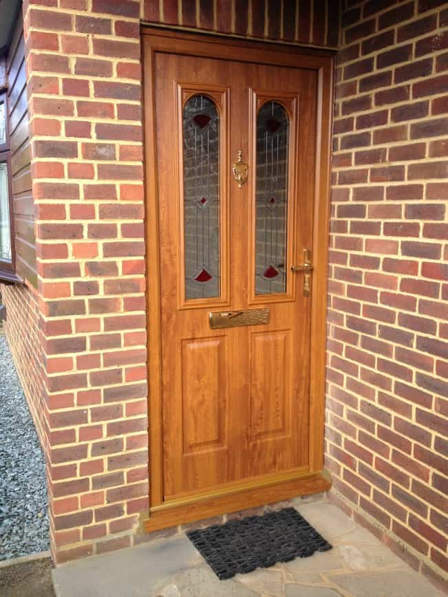 Nottingham style Golden Oak composite door
