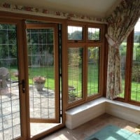 UPVC windows and doors Cedarwood inside