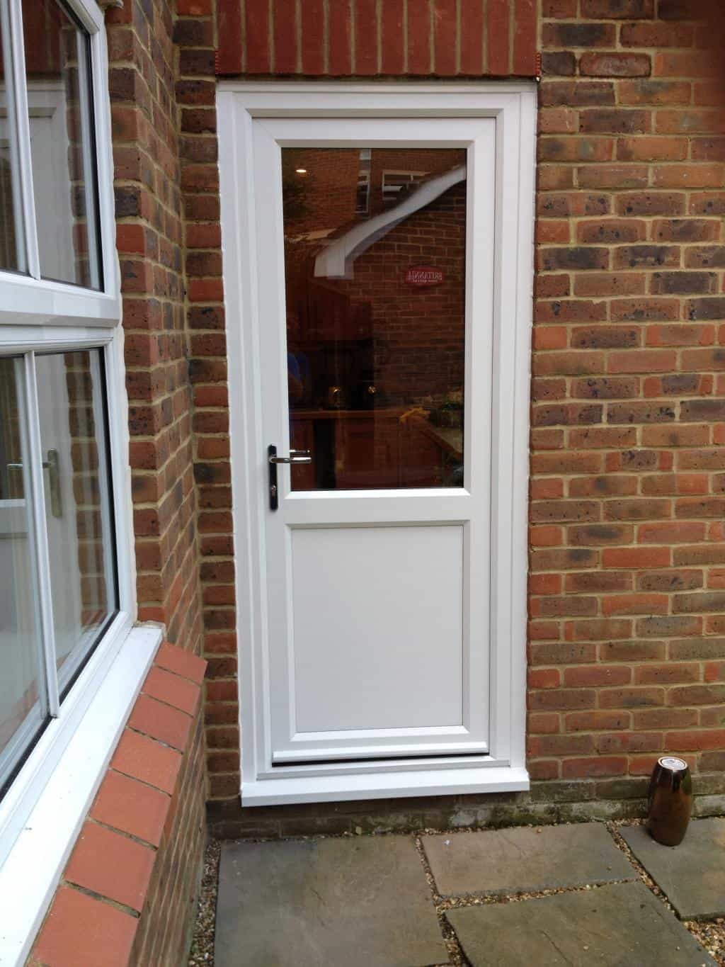 Double glazing reigate windows reigate upvc back door for White back door