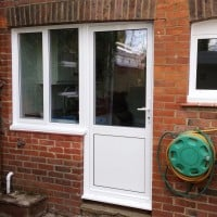 Aluminium double glazed windows and doors fitted by Dorking Glass