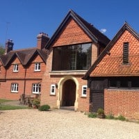 Black Aluminium windows by Dorking Glass (2)