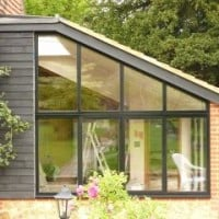 Black Double Glazing Aluminium Windows Installed by Dorking Glass in Abinger Common