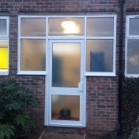 Commercial aluminium door and windows in Epsom