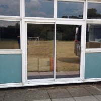 Double Glazed Sliding Aluminium Doors Powell Corderoy School Dorking Glass Surrey