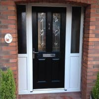 black-composite-front-door-by-dorking-glass