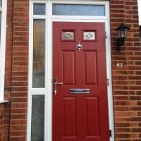 double-glazing-red-composite-front-door-in-dorking-glass