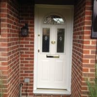 white-upvc-double-glazing-front-door-north-holmwood-dorking-glass