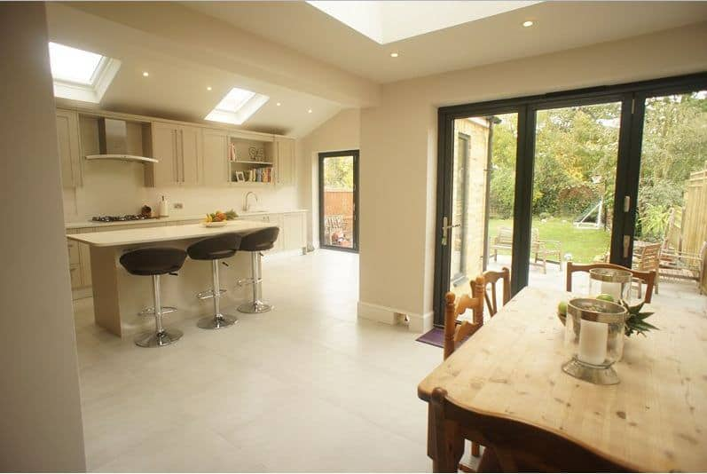 Weybridge Bi-Folding Doors, Flat Roofs & Lantern Roof Lights